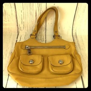 Marc Jacobs mini yellow satchel purse leather